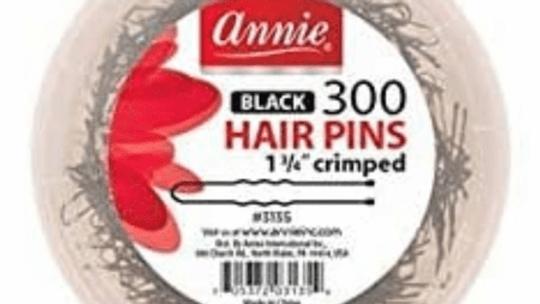 """Annie Hair Pins 1 3/4"""" Black 300 Count #3135"""