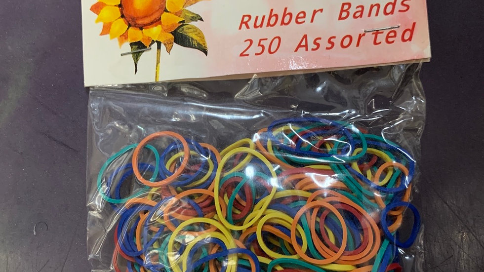 Honolulu Rubber Bands 250 Assorted
