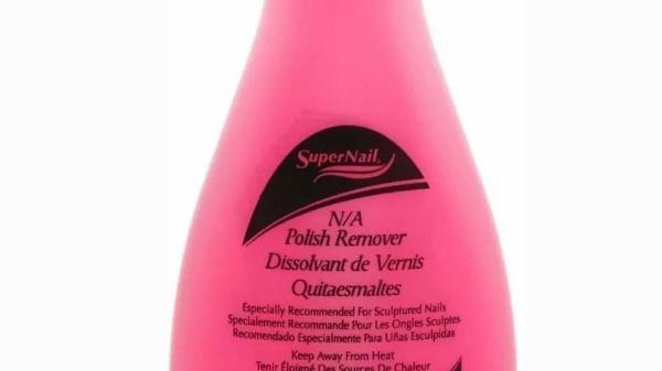 4oz Non-Abrasive Polish Remover for Natural & Artificial Nails (Pink)