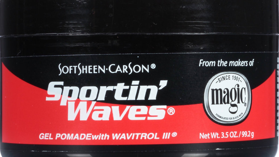 Soft Sheen-Carson Sportin' Waves Gel Pomade with Wavitrol III, 3.5oz