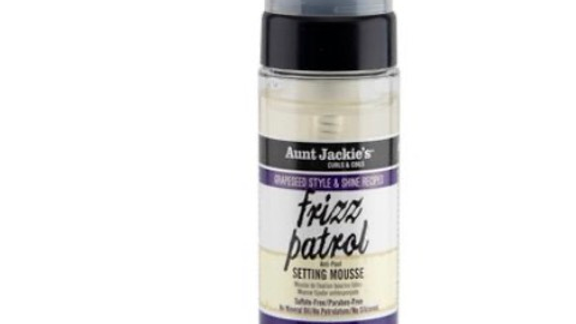 Aunt Jackie's Grape Seed Frizz Patrol Setting Mousse - 6oz