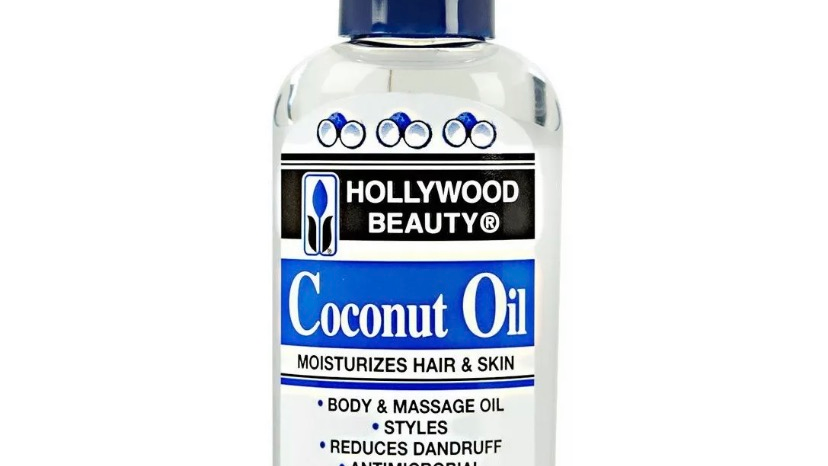Hollywood Beauty Coconut Oil Moisturizes Hair & Skin for Body Massage Oil 2oz