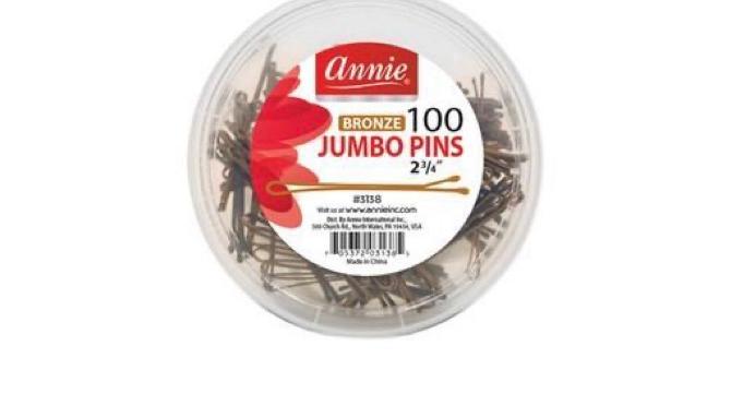 """Annie Bob Pins Bronze Jumbo Jar 03138 2-3/4"""""""