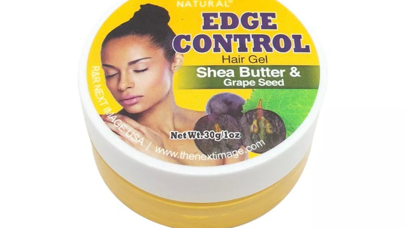 ON Natural Edge Control Hair Gel Shea Butter & Grape Seed Pomade Hold Style 1oz