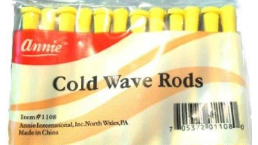 Annie Cold Wave Rods Long, Yellow 12pk