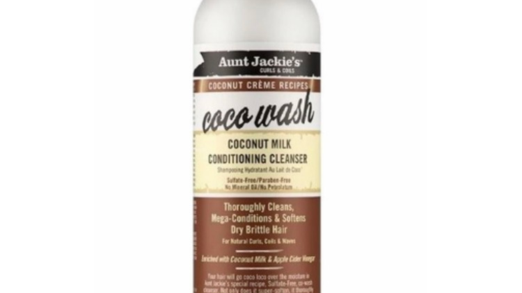 Aunt Jackie's Coconut Creme Coco Wash Coconut Milk Conditioning Cleanser 12 oz