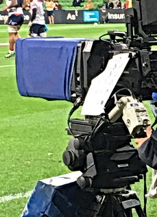 Studio camera on field