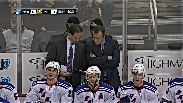 On Bench with NYR