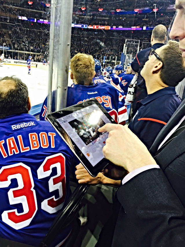 ON NYR bench