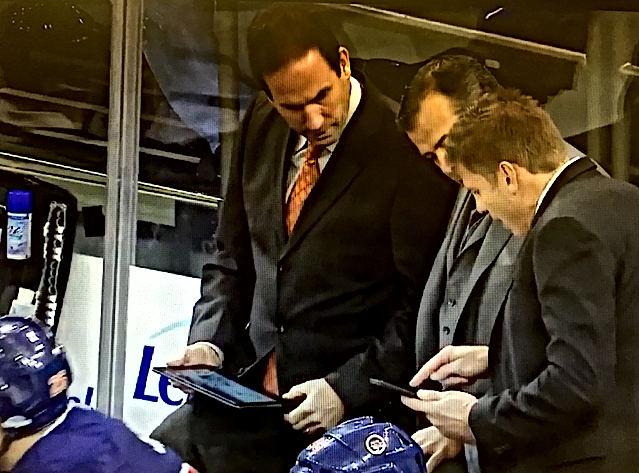 New York Rangers on Bench