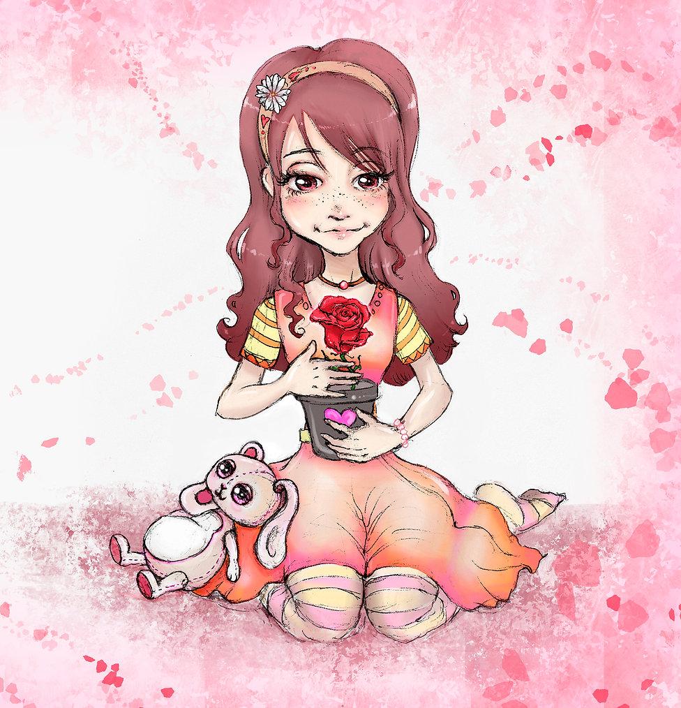 Lisa Albizzati, A rose is bloomed, Illustration