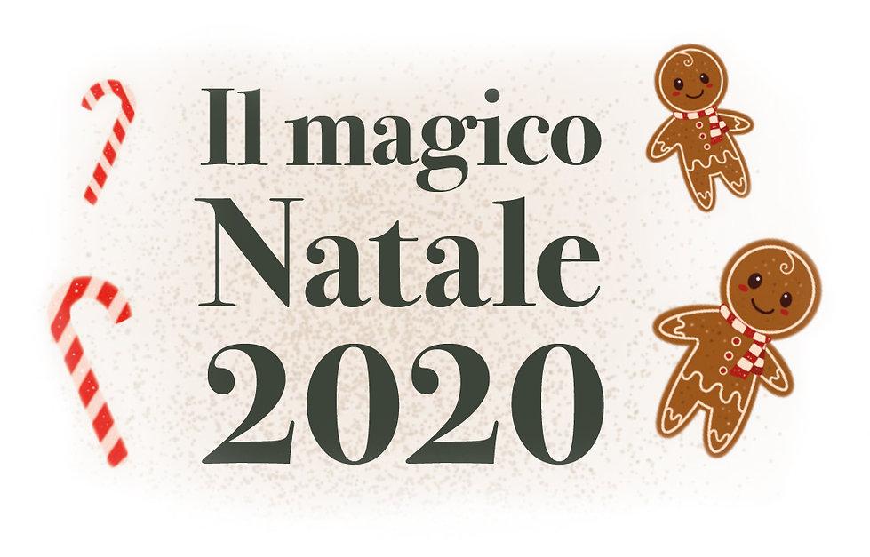 Scritta Il magico natale. 2020
