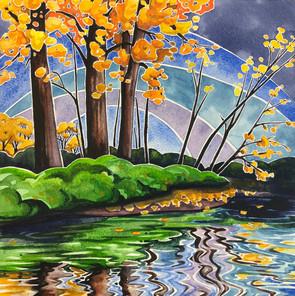Watercolor on aquabord  SOLD