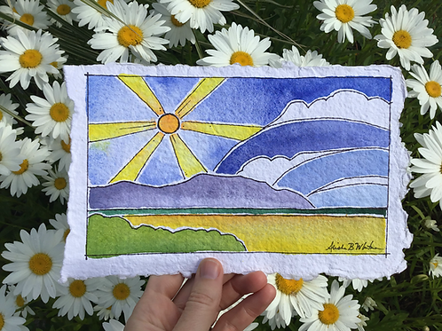 """""""Sunny Seaside"""" - Watercolor Sketch"""