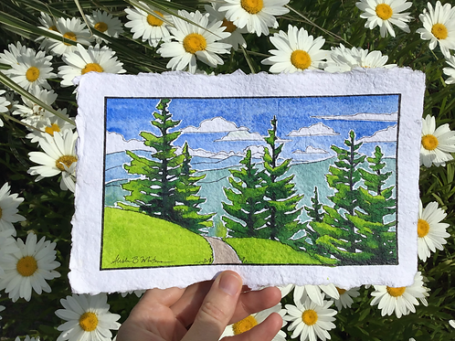 """Around the Next Corner"" - Watercolor Sketch"
