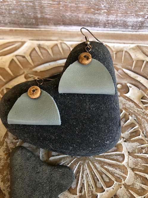 """Handcrafted """"Taco Folded"""" Leather Earrings"""