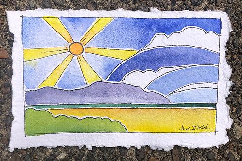 Sunny Seaside - Watercolor Sketch