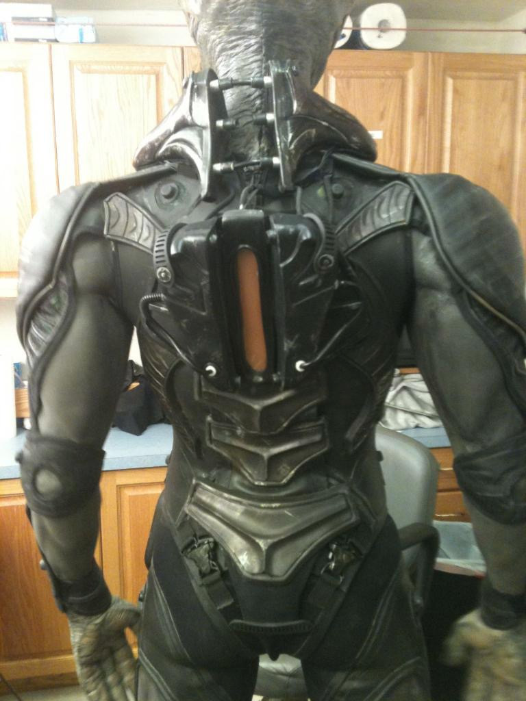 Back angle of suit, shoulders and arms. (Back plate and sculpts by various MastersFX artists).