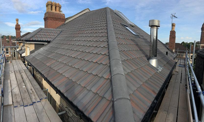 Redland Breckland Black roof tiles installed byt G M Robinson roofing Ltd