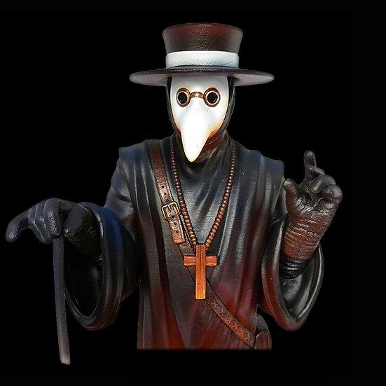 Plague doctor resin bust