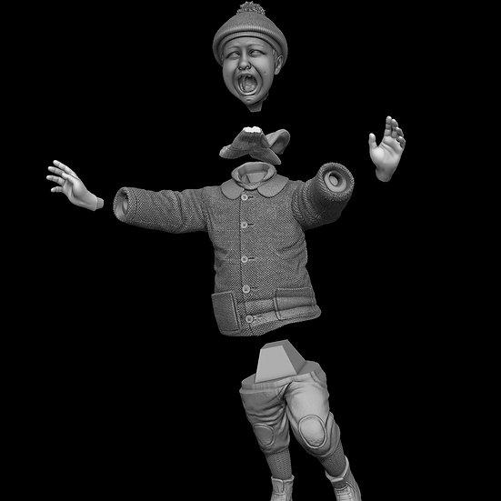 bambino anni 30 modello resina profugo diorami modellismo
