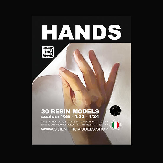 Mani hands per modellismo in scala 1:35, 1:32 e 1:24 resina kit