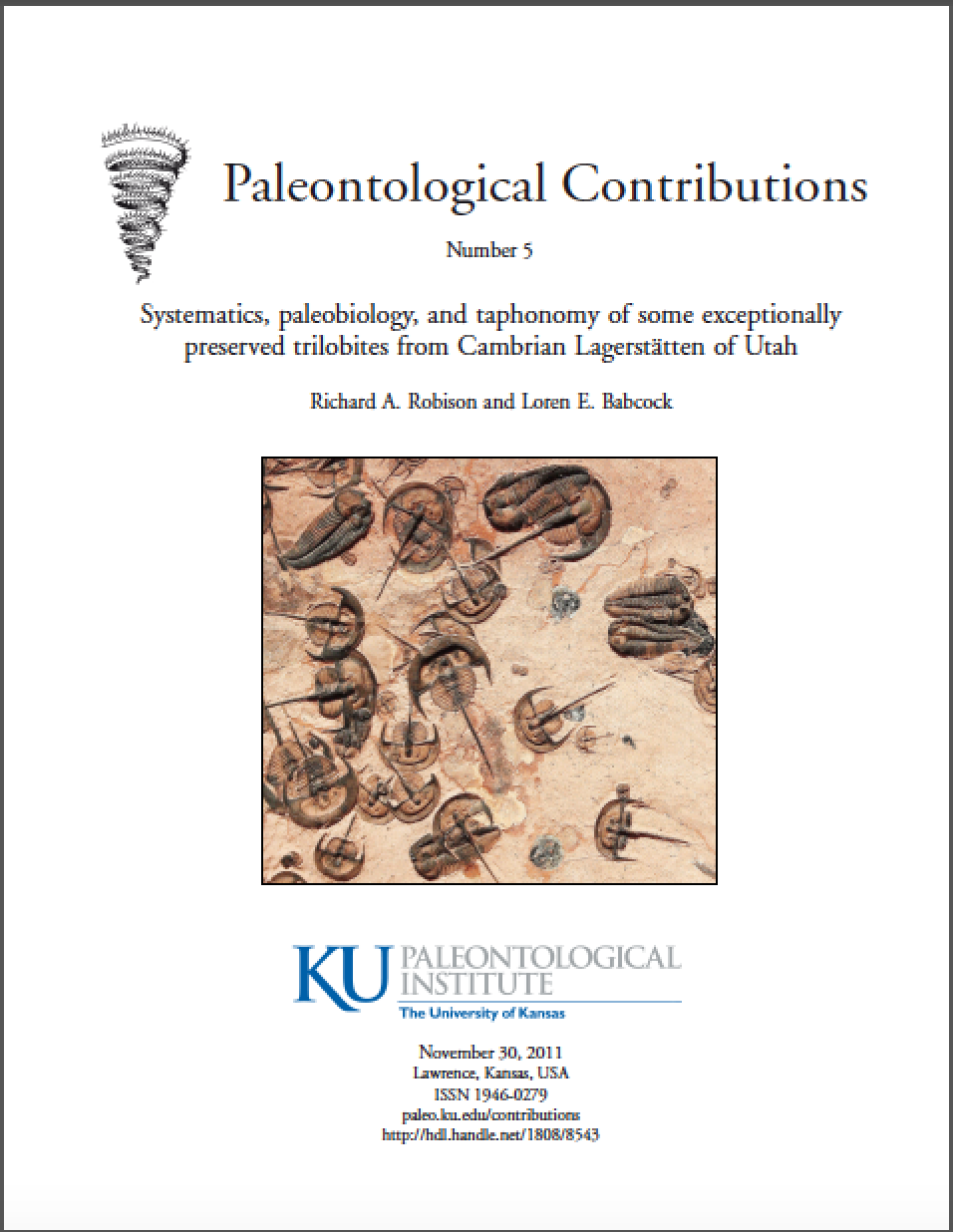 Weeks trilobite publication