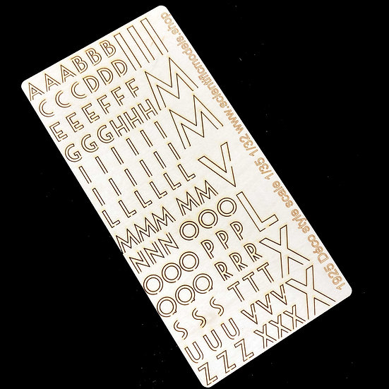 Lasercut Déco Style letters for building diorama or bases 1:35 e 1:32 diorami