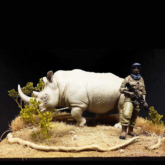 modellino resina African Kruger ranger national park 75mm resin kit