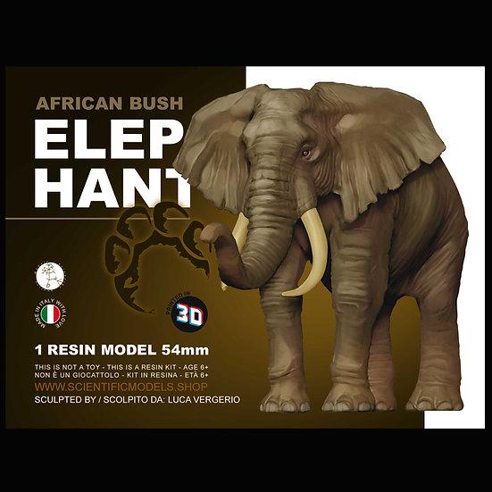 Elefante Africano modello in scala 54mm per diorami e modellismo