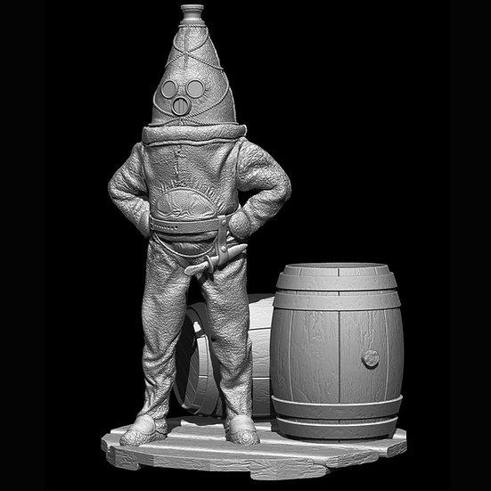 The Old Gentleman of Raahe resin model figurino storico