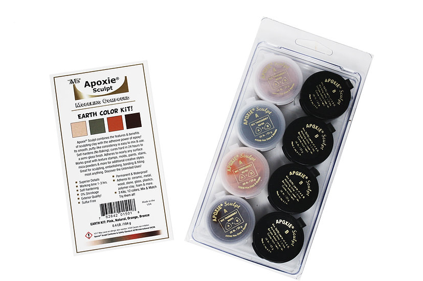 Aves Apoxie earth color kit for sculpting