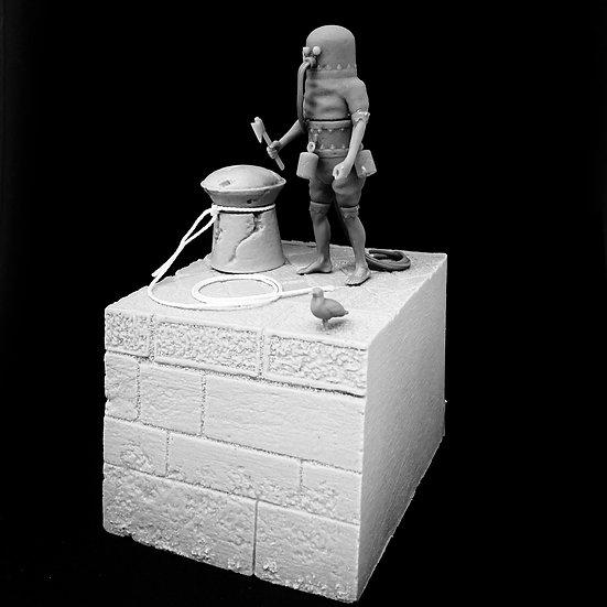 Klingert Diving machine resin figure 54mm diorama Kit