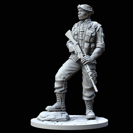 modellino resina African Kruger ranger national park 75mm resin kit