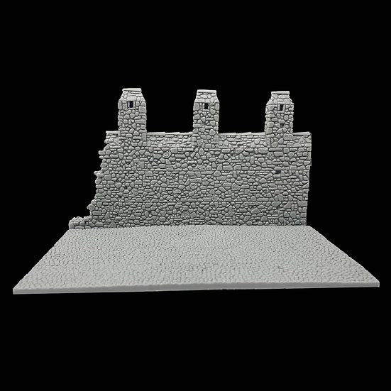 Muri merlati elementi scenici per diorama 54mm modellismo