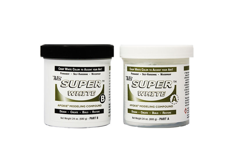 Two-component resin for sculpting and restoration Super White Aves Apoxie Sculpt 1.3kg