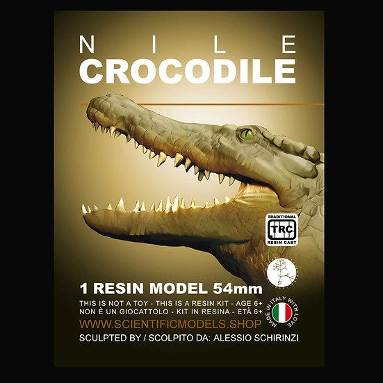 coccodrillo del nilo modellino per diorama in scala 54mm