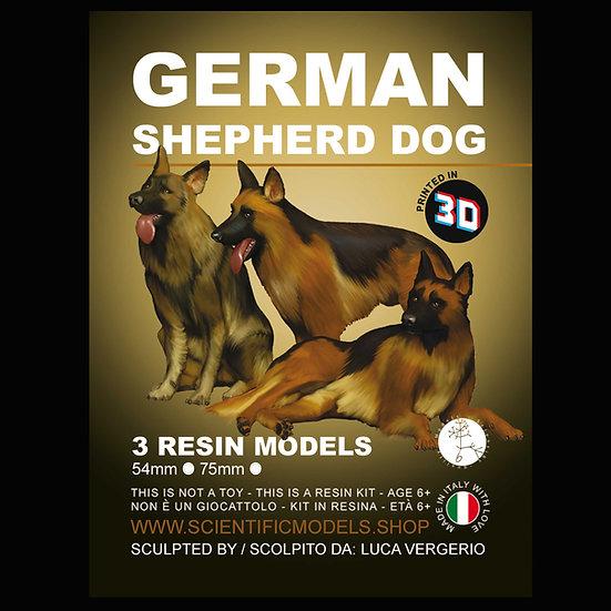 German Shepherd Dog resin kit  54 mm and 75 mm