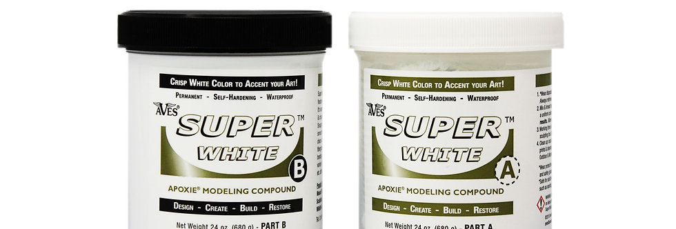 Aves super White Apoxie Scult resin 3 lb.