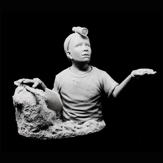 Cobalt mining kids busto in resina modellismo scientificmodels.shop