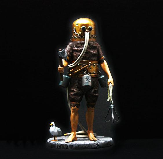 Klingert Diving machine resin figure 75mm and 54mm diorama