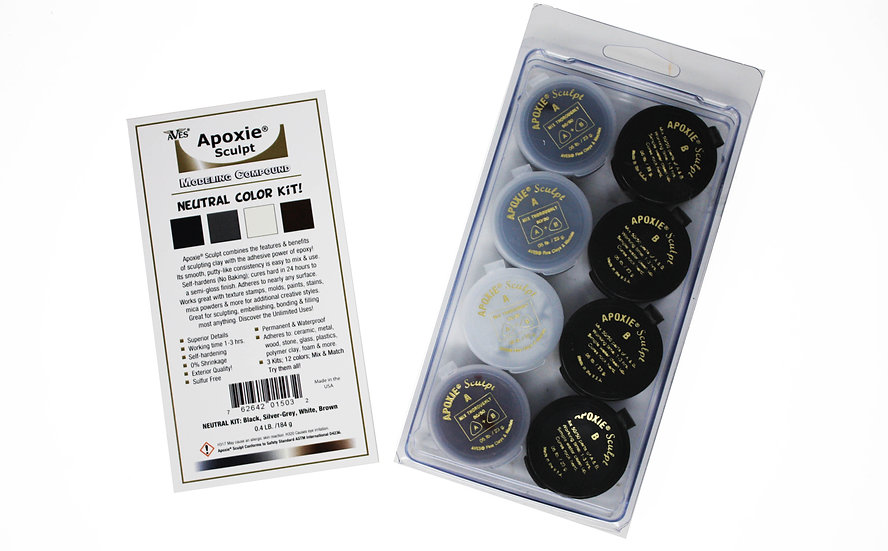 Aves Apoxie neutral color kit for sculpting