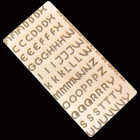 Futuristic laser cut lettere per modellismo e diorami scientificmodels
