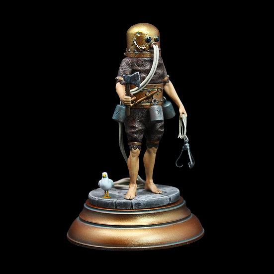 Klingert Diving suit resin figure 75mm and 54mm diorama