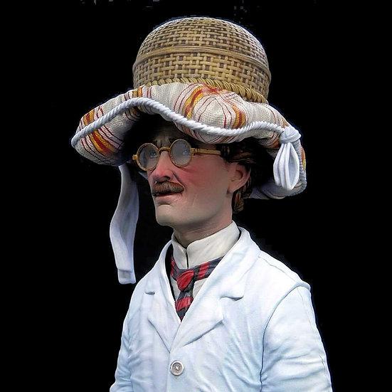 Auguste Piccard primo astronauta gondola FNRS1 busto resina modellismo