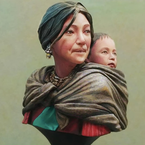Motherhood busto in resina per modellismo mamma tibetana scientificmodels.shop