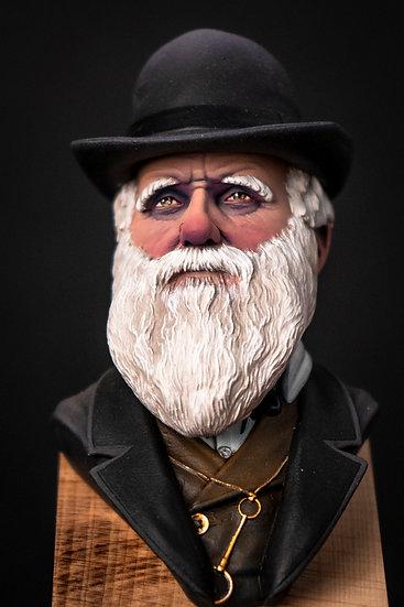 Charles Darwin Busto grande scienziato resina scala miniatura
