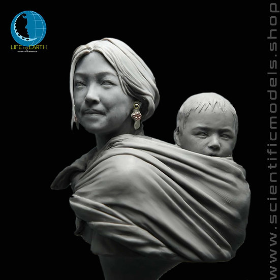 Motherhood busto in resina per modellismo mamma tibetana scientificmodels.shop