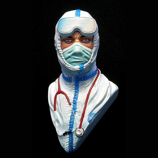 Operatore COVID-19 busto in resina Beneficenza Scientificmodels.shop