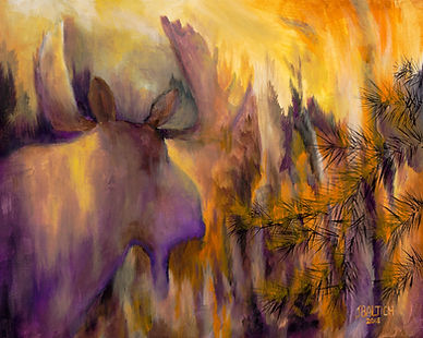 pagami wildfire 2011, moose, bull moose, boundary waters forest fires, ely mn, northwind lodge, joe baltich art, abstract art, wilderness culture